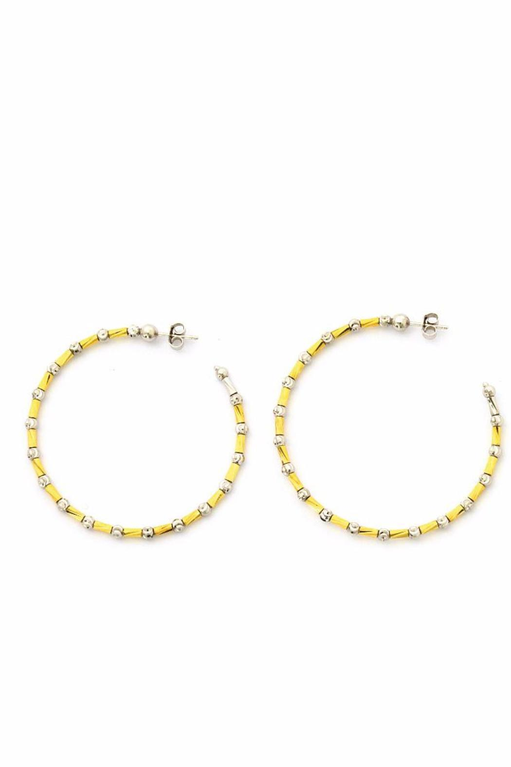 Officina Bernardi Two-Toned Hoop Earrings - Main Image