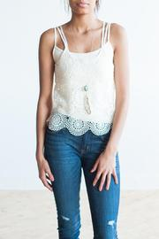 Bishop + Young Crochet Tank - Front cropped
