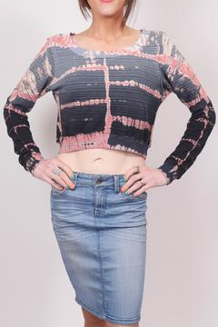 Hard Tail Forever  Tye-Dye Crop Sweater - Product List Image