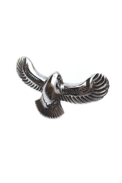 Turquoise and Tobacco Eagle Ring - Alternate List Image