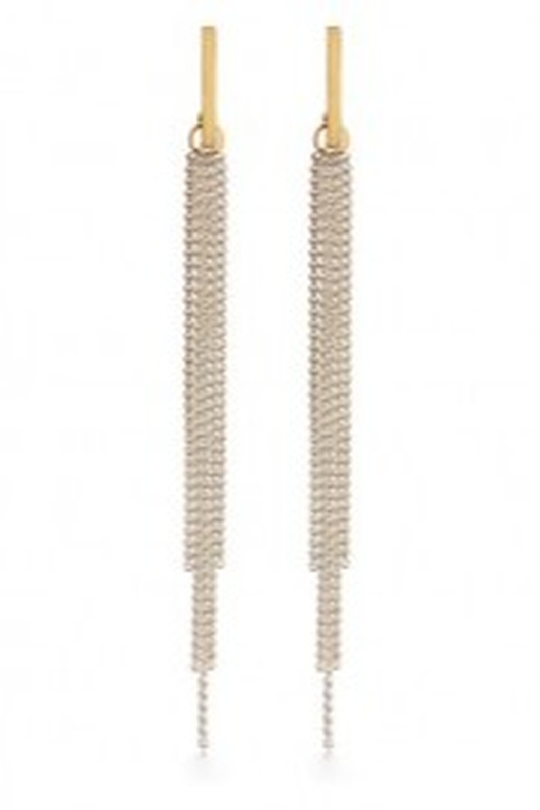 Amano Trading Chain Duster Taupe Earrings - Main Image