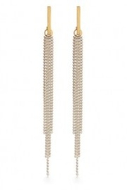 Amano Trading Chain Duster Taupe Earrings - Product Mini Image