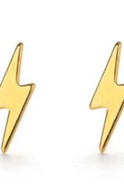 Amano Trading Lightning Bolt Stud Earrings - Product Mini Image