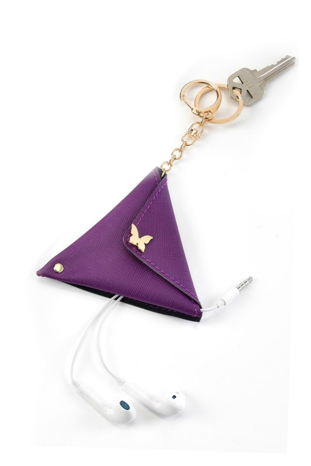 Gift Craft Earbud Keychain Pouch - Main Image