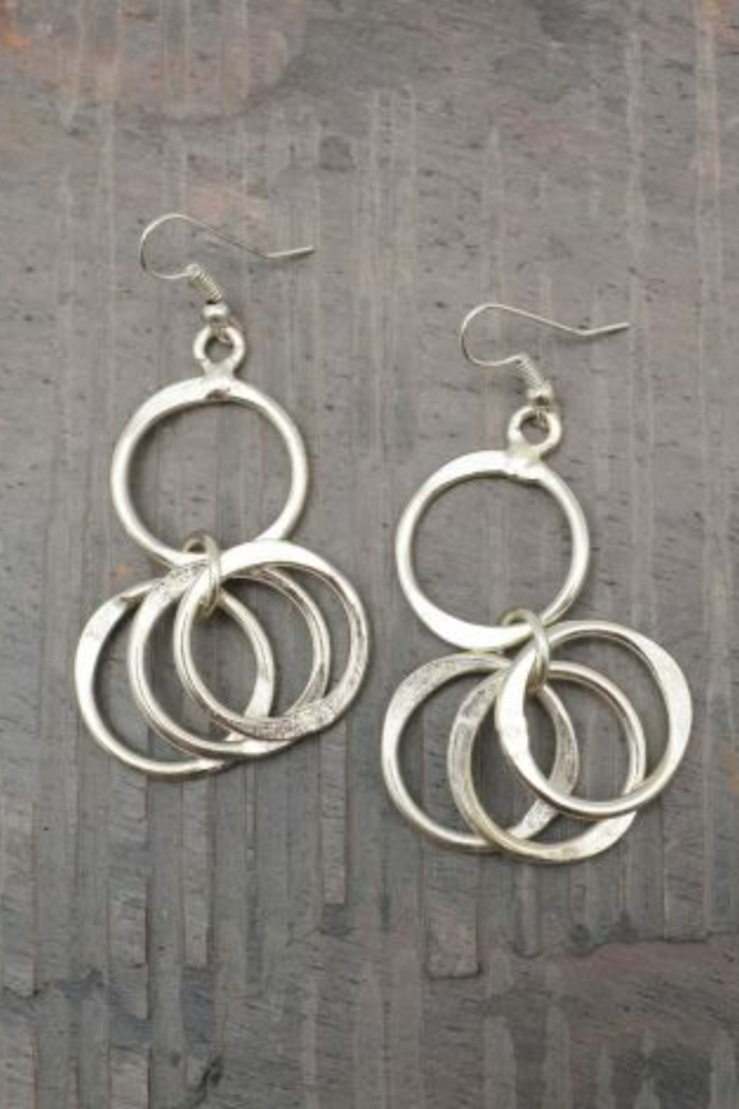 Anju EARRING 2 CIR DROP - Front Cropped Image