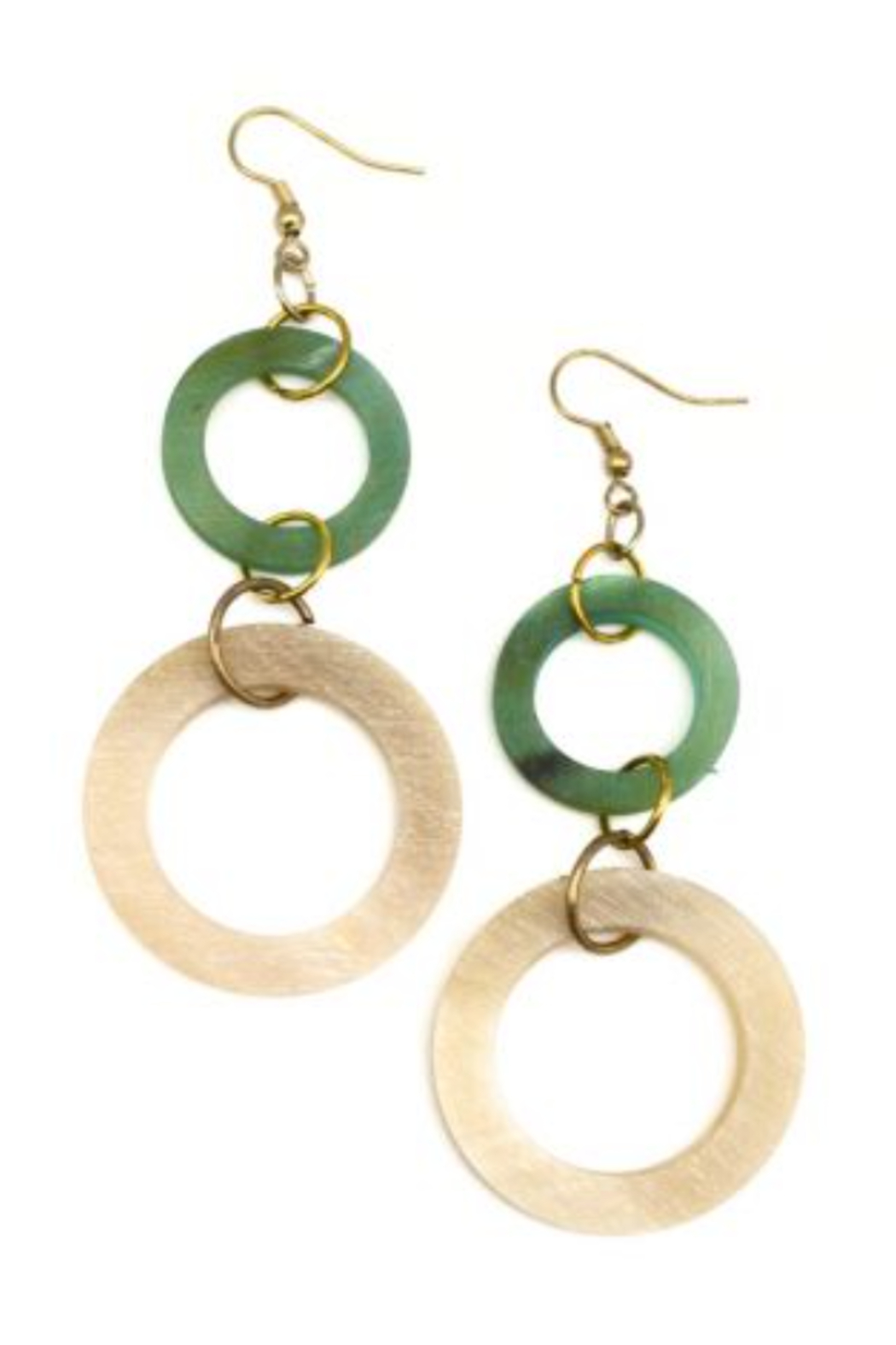 Anju Handcrafted Artisan Jewelry EARRING 2 CIRCLE DROP - Main Image