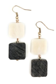 Anju EARRING 2 SQ DROP - Front cropped