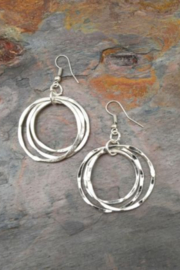 Anju Handcrafted Artisan Jewelry EARRING  3 CIRCLE - Product Mini Image