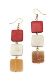 Anju Handcrafted Artisan Jewelry EARRING 3 SQ - Front cropped
