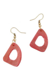 Anju Handcrafted Artisan Jewelry EARRING HORNED TRI - Product Mini Image