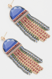 NAKAMOL CHICAGO Earring stone and bead dangle - Front cropped