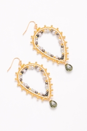 Nakamol Earring Teardrop With Stone Drop - Product Mini Image