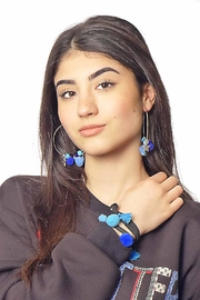 Gypsetters Earrings Pompon - Front cropped
