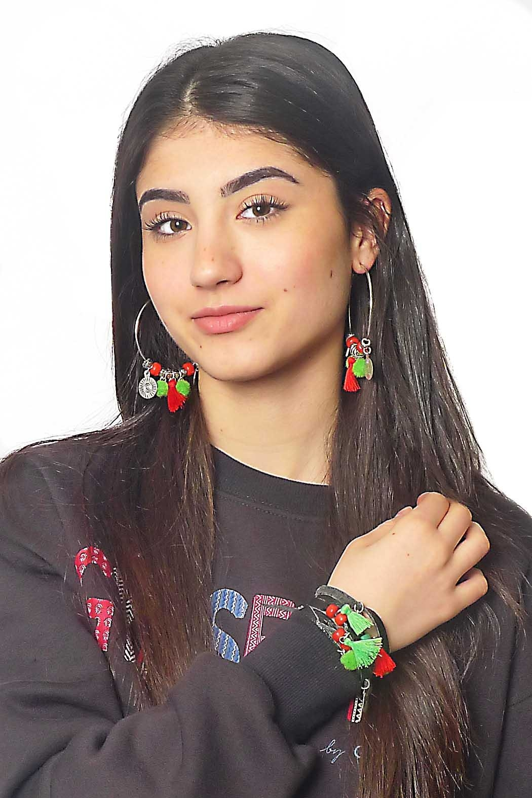 Gypsetters Earrings Pompon - Front Cropped Image
