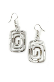 Anju Handcrafted Artisan Jewelry EARRINGS SQ INFIN - Front cropped