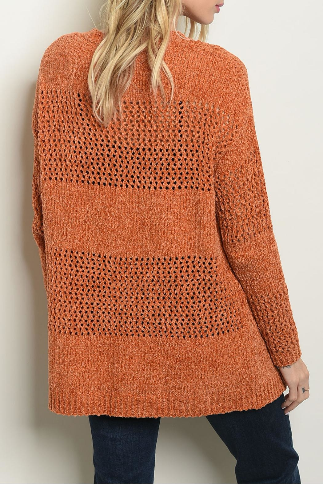 Cozy Casual Earth Knit Sweater - Front Full Image