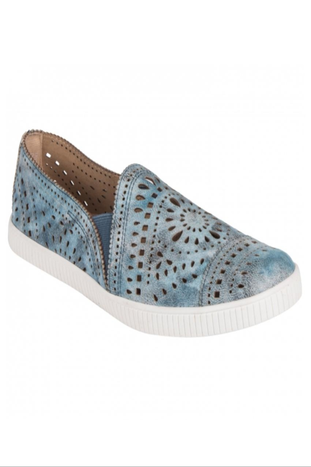 Earth Tayberry Leather Sneaker - Main Image