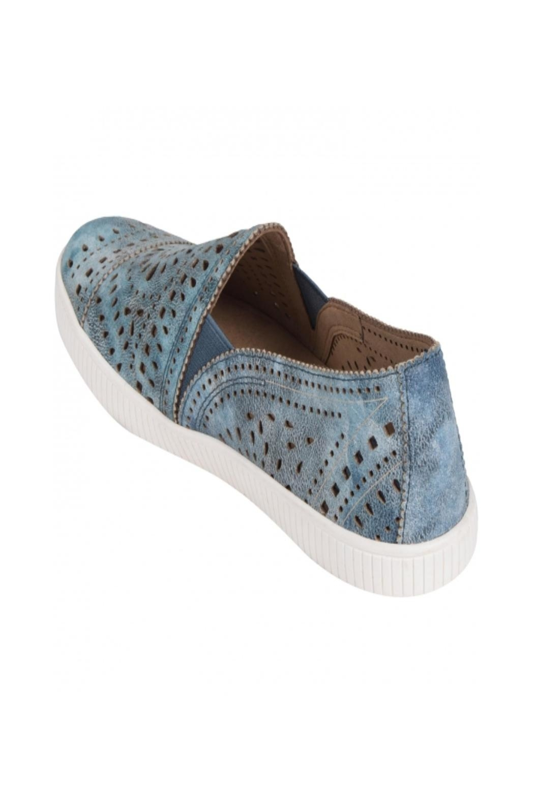 Earth Tayberry Leather Sneaker - Front Full Image
