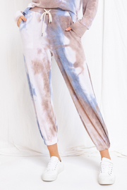 Gilli  Earth Tone Lightweight Tie Dye Joggers - Product Mini Image