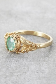 Elise Perelman Earthly Emerald Ring - Front full body