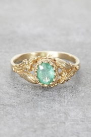 Elise Perelman Earthly Emerald Ring - Front cropped