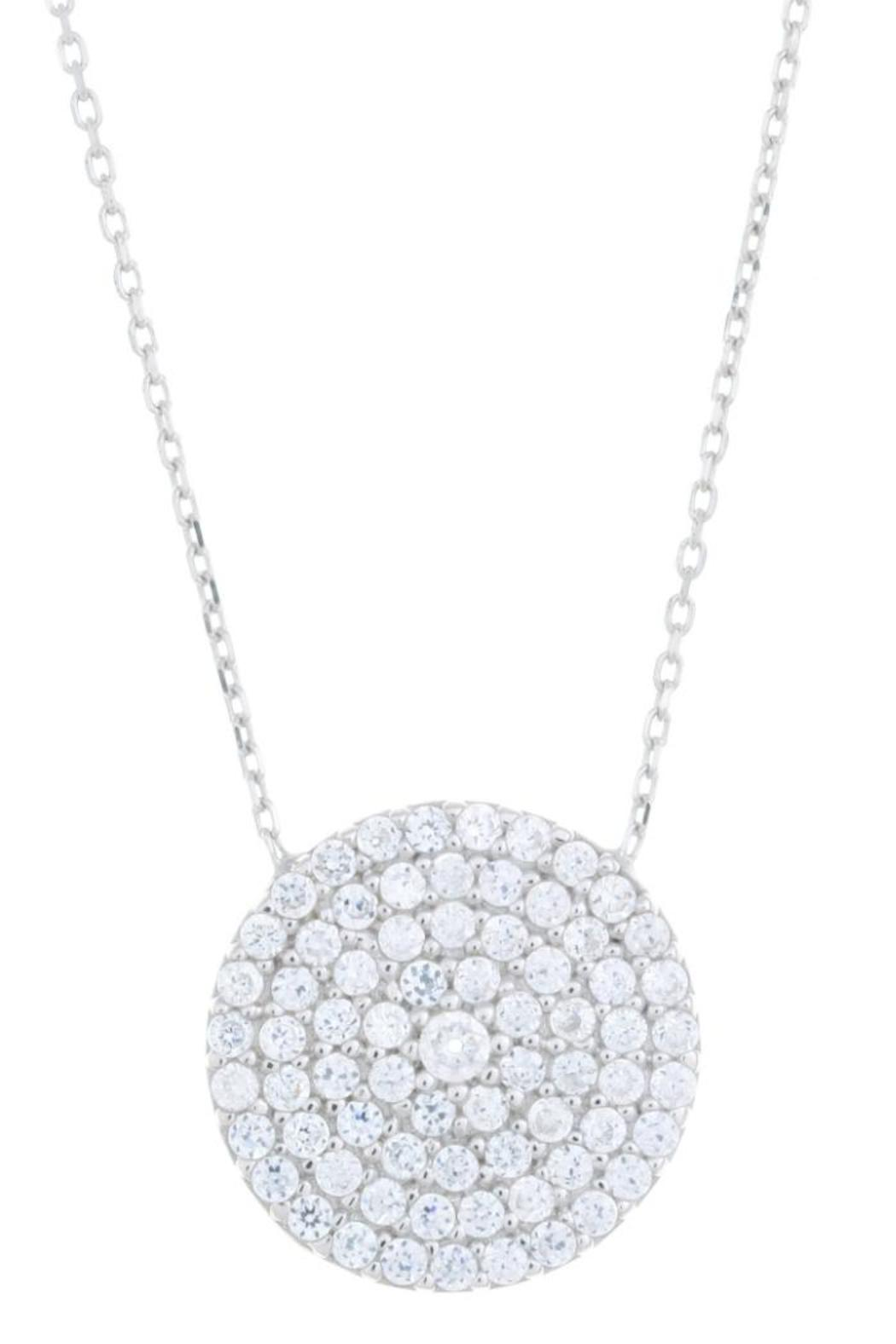 Earthy Chic Dazzling Disk Necklace - Main Image