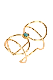 Earthy Chic Emerald Circle Cuff - Front cropped