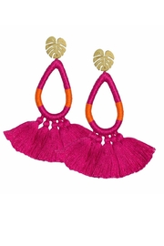 Earthy Chic Fuchsia Tassel Earrings - Product Mini Image