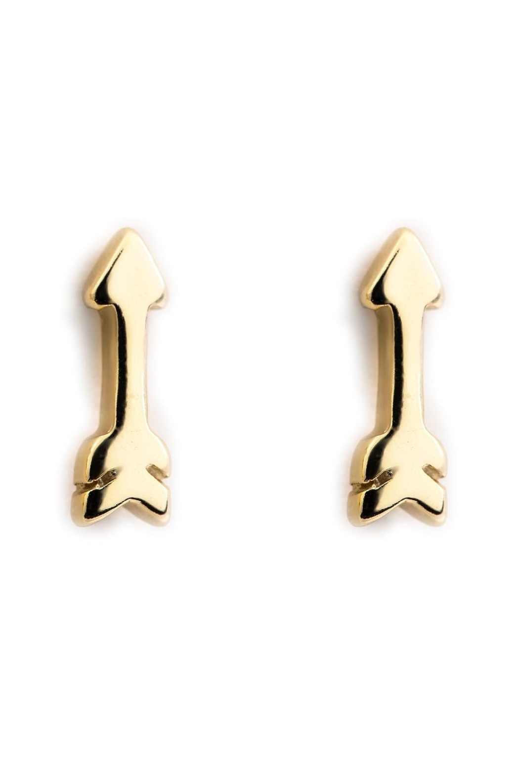 Earthy Chic Mini Arrow Studs - Main Image