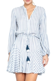 Earthy Chic Nadia Stripe Dress - Front cropped