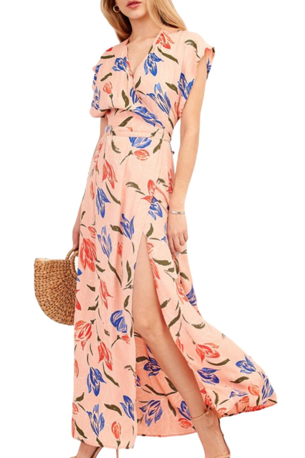 Earthy Chic Nidia Floral Dress - Main Image