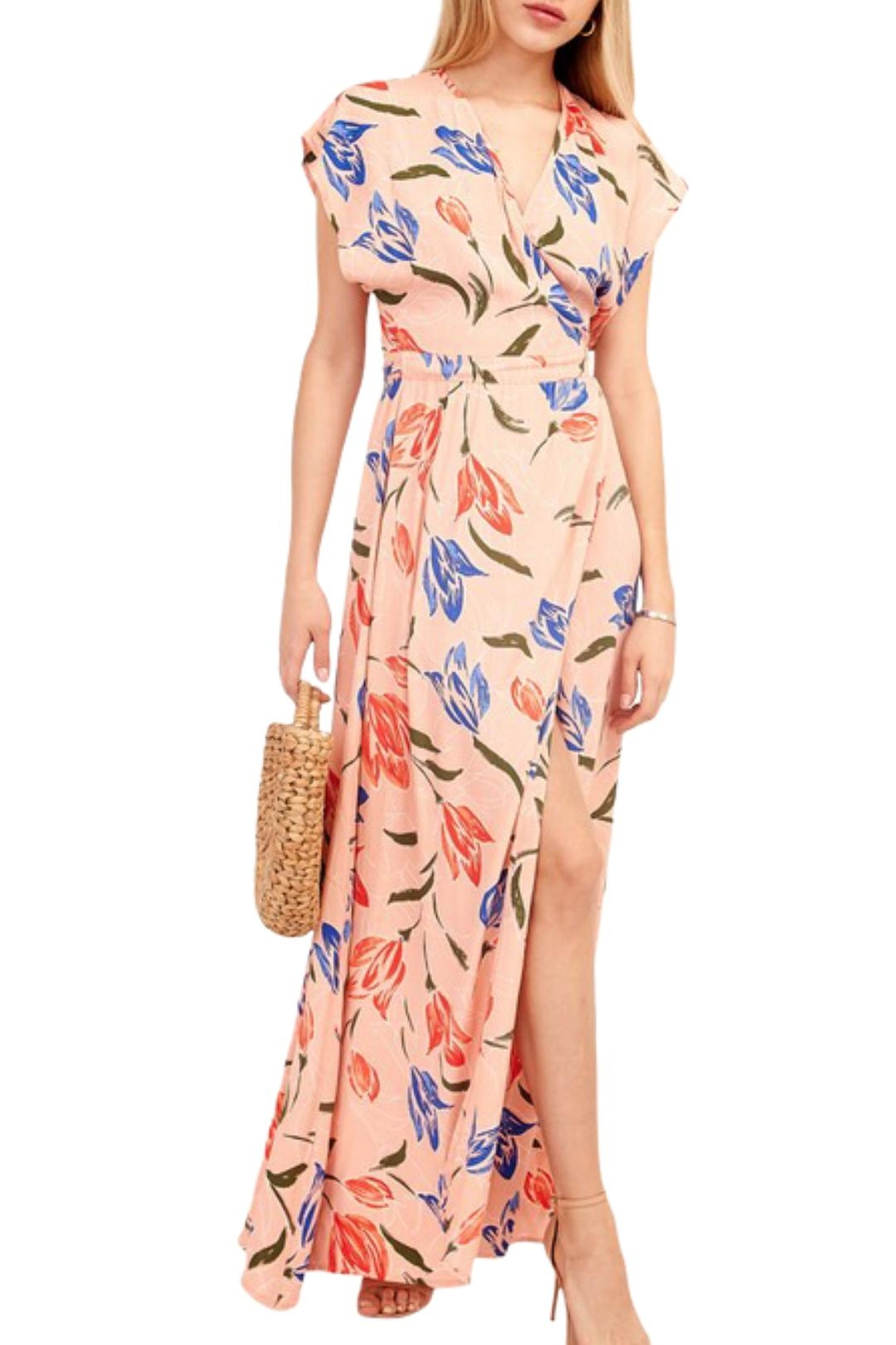 Earthy Chic Nidia Floral Dress - Front Full Image