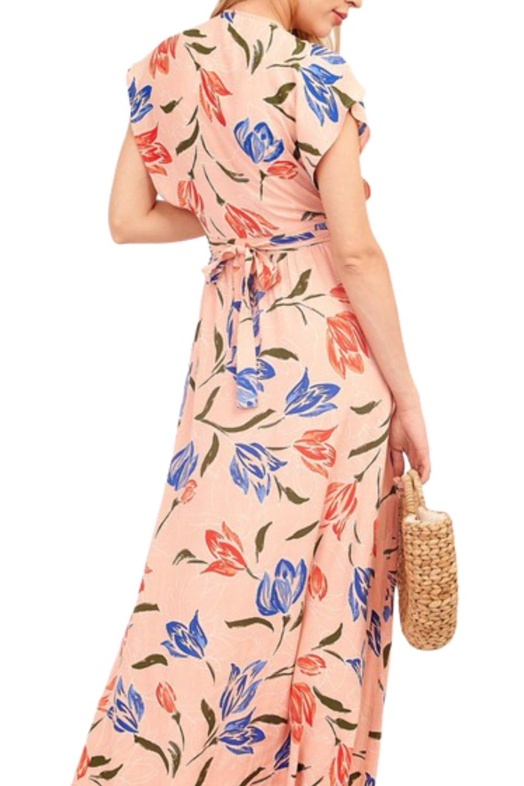 Earthy Chic Nidia Floral Dress - Side Cropped Image