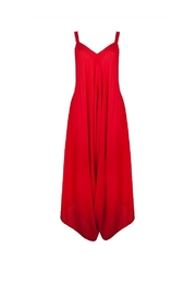 Earthy Chic Red Harem Jumpsuit - Product Mini Image
