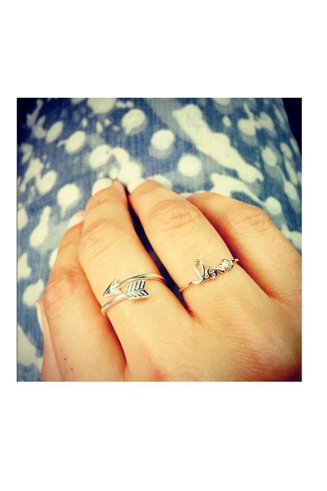 Earthy Chic Arrow Ring - Front Full Image