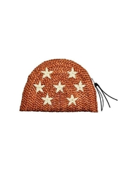 Earthy Chic Straw Star Clutch - Product Mini Image