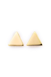 Earthy Chic Triangle Stud Earrings - Product Mini Image