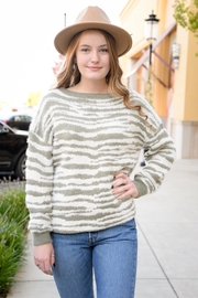 easel A To Zebra Sweater - Side cropped