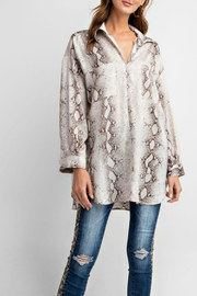 easel Snake Satin Tunic - Product Mini Image