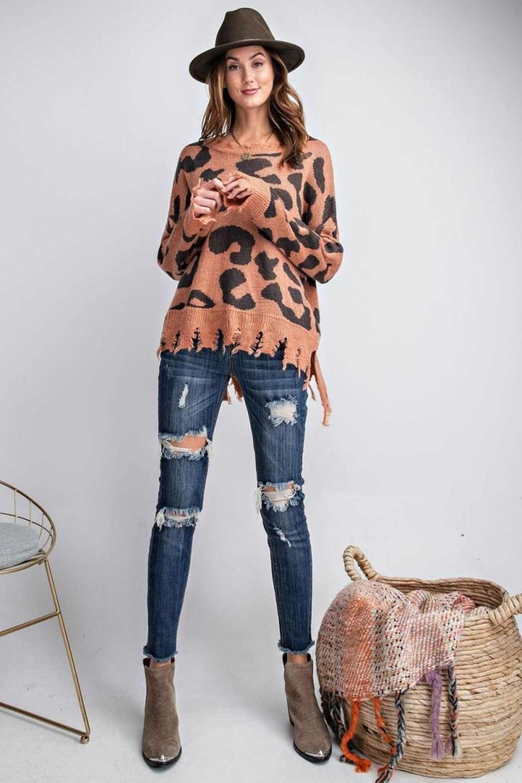 easel Animal Knit Sweater - Main Image