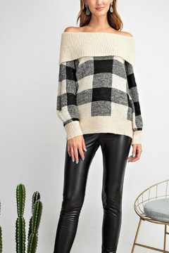 easel Argyle Sweater - Product List Image