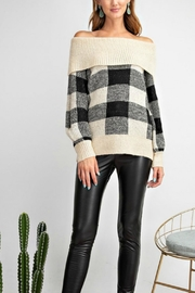 easel Argyle Sweater - Front cropped