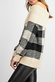 easel Argyle Sweater - Side cropped