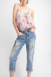 easel Painted Boyfriend Jeans - Product Mini Image