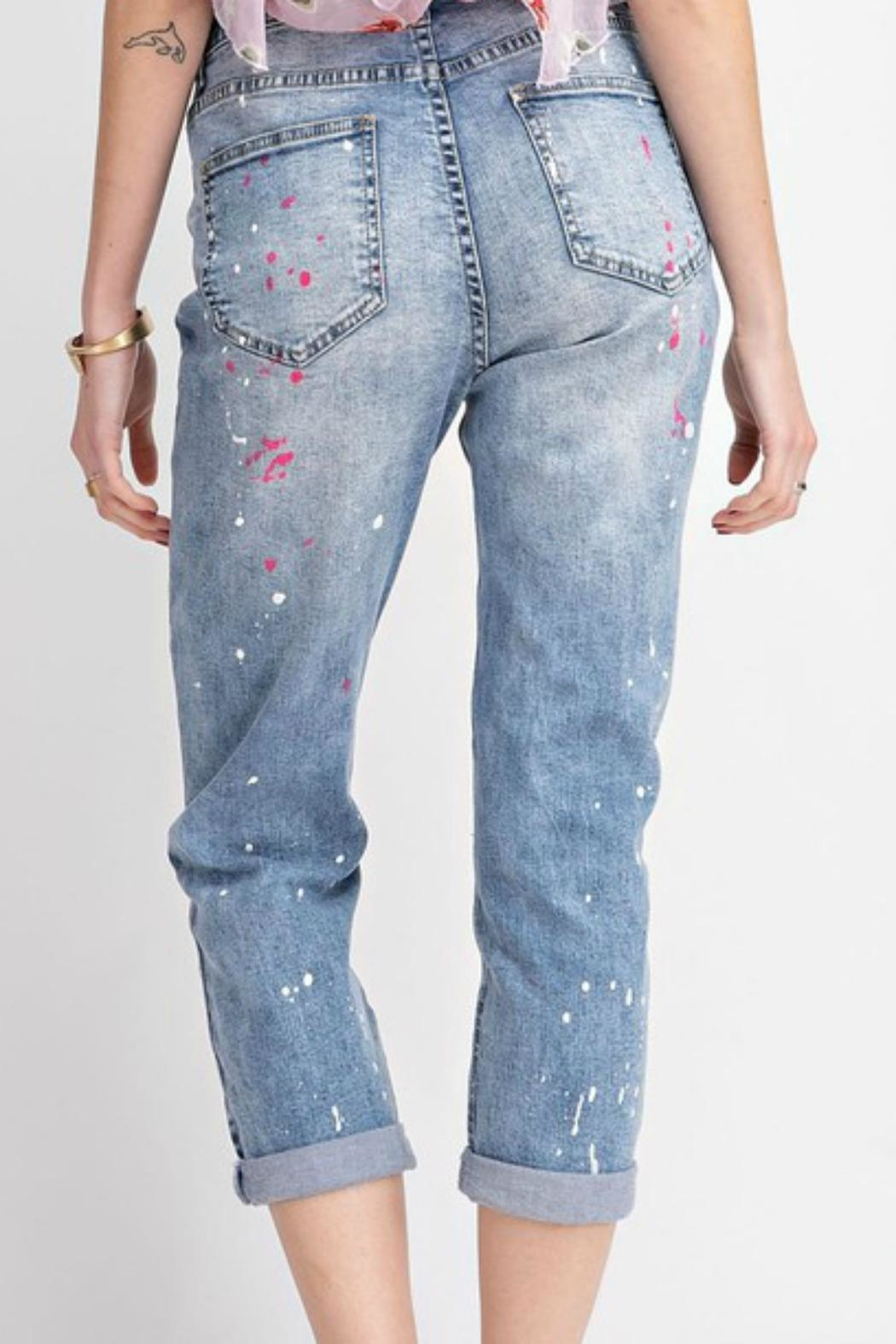 easel Painted Boyfriend Jeans - Side Cropped Image