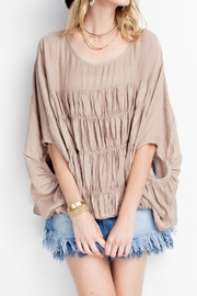 easel Beige Crop Top - Front cropped