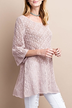 easel Bell Crochet Sweater - Product List Image
