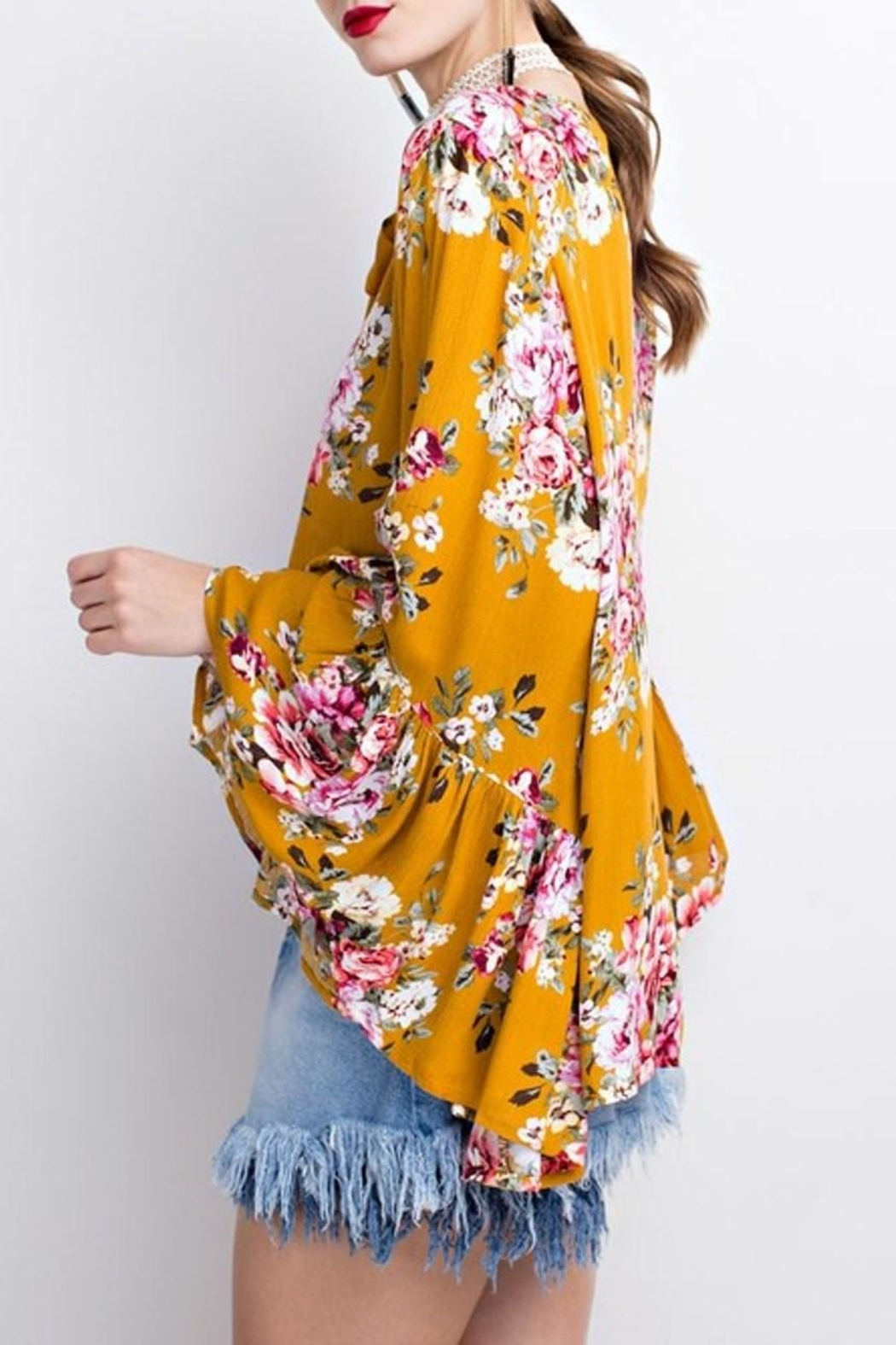 easel Bell Sleeve Tunic - Front Full Image