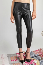 easel Black Faux-Leather Pants - Product Mini Image