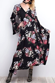 easel Black Floral Maxi - Front full body